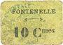 Billets Fontenelle (02). Billet. 10 centimes