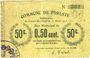 Billets Foreste (02). Commune. Billet. 50 centimes 15.4.1915