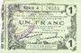 Billets Fourmies (59). Bon Régional des Départ. du Nord, Aisne & Oise. Billet. 1 franc 8.5.1915, série 4