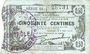 Billets Fourmies (59). Bon Régional des Départ. du Nord, Aisne & Oise. Billet. 50 cmes 8.5.1915, série 10