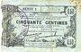 Billets Fourmies (59). Bon Régional des Départ. du Nord, Aisne & Oise. Billet. 50 cmes 8.5.1915, série 1