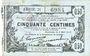 Billets Fourmies (59). Bon Régional des Départ. du Nord, Aisne & Oise. Billet. 50 cmes 8.5.1915, série 21
