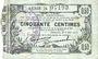 Billets Fourmies (59). Bon Régional des Départ. du Nord, Aisne & Oise. Billet. 50 cmes 8.5.1915, série 24