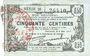 Billets Fourmies (59). Bon Régional des Départ. du Nord, Aisne & Oise. Billet. 50 cmes 8.5.1915, série 28