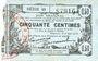 Billets Fourmies (59). Bon Régional des Départ. du Nord, Aisne & Oise. Billet. 50 cmes 8.5.1915, série 40