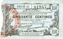 Billets Fourmies (59). Bon Régional des Départ. du Nord, Aisne & Oise. Billet. 50 cmes 8.5.1915, série 45