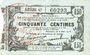 Billets Fourmies (59). Bon Régional des Départ. du Nord, Aisne & Oise. Billet. 50 cmes 8.5.1915, série 47