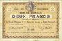 Billets Fourmies (59). Ville. Billet. 2 francs 28.10.1914, 1ère série