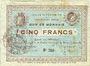 Billets Fourmies (59). Ville. Billet. 5 francs 28.10.1914, 2e série
