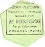 Billets Fresnes (59). A l'Indispensable (H. Defroyenne). Billet. 5 kilo de beurre