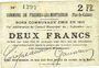 Billets Fresnes-les-Montauban (62). Commune. Billet. 2 francs 3.9.1915