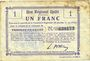 Billets Fresnoy-le-Grand (02). Ville. Billet. B.R.U., 1 franc