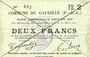 Billets Gavrelle (62). Commune. Billet. 2 francs 20.3.1915