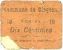 Billets Glageon (59). Commune. Billet. 10 centimes