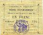 Billets Goeulzin (59). Commune. Billet. 1 franc du 31.1.1915, 4e série A
