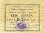 Billets Goeulzin (59). Commune. Billet. 5 francs du 31.1.1915, 5e série G