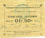 Billets Gouy-sous-Bellonne (62). Commune. Billet. 0,50 franc, émission 1914, série P