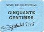 Billets Gouy-sous-Bellonne (62). Commune. Billet. 50 centimes