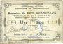 Billets Gouzeaucourt (59). Commune. Billet. 1 franc du 21.1.1915, 2e série