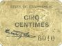 Billets Graissessac (34). Mines. Billet. 5 centimes