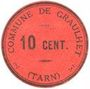 Billets Graulhet (81). Commune. Billet. 10 centimes