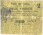 Billets Guise (02). Ville. Billet. 2 francs 28.6.1915, série C