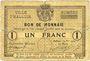 Billets Halluin (59). Ville. Billet. 1 franc 27 8bre 1914, sans numérotation