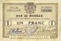 Billets Halluin (59). Ville. Billet. 1 franc 27 8bre 1914