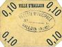 Billets Halluin (59). Ville. Billet. 10 centimes