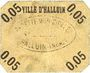 Billets Halluin (59). Ville. Billet. 5 centimes