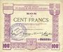 Billets Ham, Noyon & Saint-Simon (80). Union des Communes. Billet. 100 francs