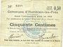 Billets Hamblain-les-Prés (62). Commune. Billet. 50 centimes, émis en 1914