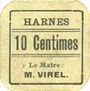 Billets Harnes (62). Commune. Billet. 10 centimes