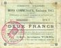 Billets Harnes (62). Commune. Billet. 2 francs 20.2.1915, série C