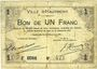 Billets Hautmont (59). Ville. Billet. 1 franc 14.12.1914, 2e série