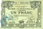Billets Hénin-Liétard (62). Ville. Billet. 1 franc 6.3.1916, série A