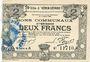 Billets Hénin-Liétard (62). Ville. Billet. 2 francs 6.3.1916, série A