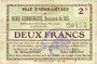 Billets Hénin-Liétard (62). Ville. Billet. 2 francs, émission 1915, 16.6.1915