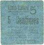 Billets Hénin-Liétard (62). Ville. Billet. 5 centimes 7.9.1915
