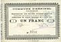 Billets Heninel (62). Commune. Billet. 1 franc 4.4.1915