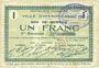 Billets Hirson (02). Ville. Billet. 1 franc 25.6.1915