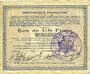 Billets Hirson (02). Ville. Billet. 1 franc 9.3.1915