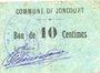 Billets Joncourt (02). Commune. Billet. 10 centimes