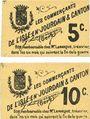 Billets L'Isle-en-Jourdain & Canton (32). Les commerçants. Billets. 5 centimes, 10 centimes