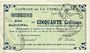 Billets La Capelle (02). Commune. Billet. 50 cmes 25.6.1915