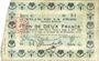 Billets La Fère (02). Ville. Billet. 2 francs 30.11.1914, série G