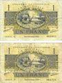 Billets La Rochelle (17). Chambre de Commerce. Billets. 1 franc septembre 1920 (2ex), série C et F