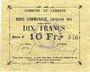 Billets Lambres (59). Commune. Billet. 10 francs, émission 1914, série F