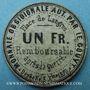 Billets Langres (52) (place de). Billet. 1 franc 3.9.1870, carton gris