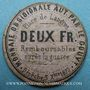 Billets Langres (52) (place de). Billet. 2 francs 3.9.1870, carton mauve